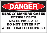 Danger Sign Deadly Manure Gases