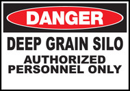 Danger Sign  Deep Grain Silo