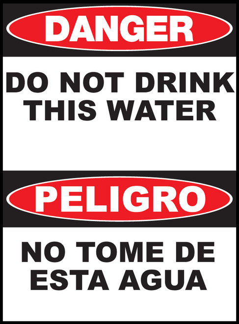 Danger Do Not Drink This Water Sign