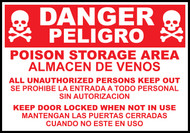 Danger Poison Storage Area Sign