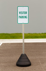 "Zing ""Visitor Parking"" Sign Kit Bundle, with Base and Post"