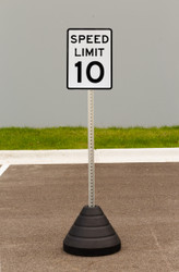 "Zing ""Speed Limit 10"" Sign Kit Bundle, with Base and Post"
