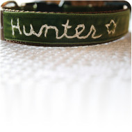 Hunter Monogrammed Dog Collar
