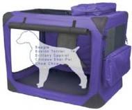 Intermediate Deluxe Soft Dog Crate, Generation II - Lavender
