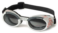 Silver Skull ILS Doggles with Light Smoke Lens