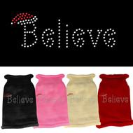 Believe Rhinestone Dog Sweater (Various Colors)