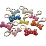 Enamel Bone Dog Collar Charm