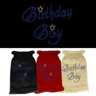 Birthday Boy Rhinestone Dog Sweater (Multiple Colors)