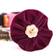 Olive Velvet Collar Flower for Dogs
