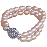 Fresh Water Pink Pearls Necklace for Dogs