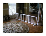 Step Over Gate Extension for Dog Gates - White