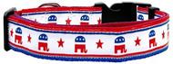 Political Nylon Republican Dog Collar