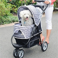 Black Onyx Promenade Dog Stroller up to 50lbs