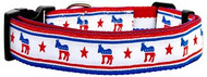 Political Nylon Democrat Dog Collar