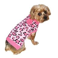 Pink Leopard Cat Sweater