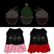 Christmas Cupcakes Dog Dress