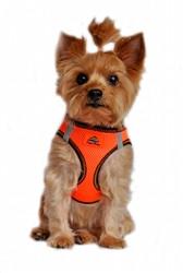 Iridescent Orange Top Stitch American River Choke Free Dog Harness