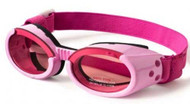 Shiny Pink ILS Doggles with Pink Lens & Straps