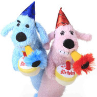 Happy Birthday Loofa Dog Toy