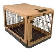 The Other Door™ Steel Dog Crate - Tan