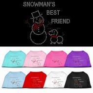 Snowman's Best Friend Dog Shirt