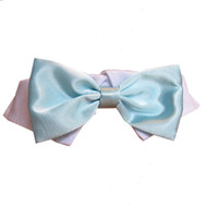 Aqua Satin Dog Bow Tie