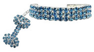 Blue Glamour Bits Dog Jewelry