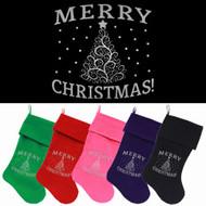 Shimmer Christmas Tree Dog Christmas Stocking