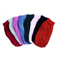 Irish Knit Dog Sweater