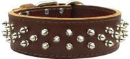 Brutus Leather Dog Collar- Brown