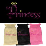 Princess Rhinestone Dog Sweater (Various Colors)