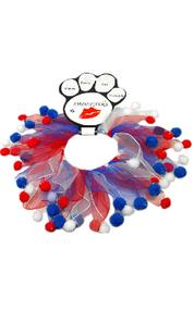 Fuzzy Patriotic Dog Smoocher