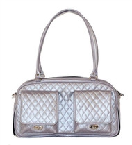 Marlee Lilac Quilted Dog Bag