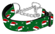 Santa Hat Martingale Dog Collar