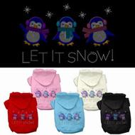 Let It Snow Penquins Dog Hoodie