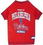Philadelphia Phillies Baseball Dog Shirt