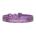 10mm Purple Metallic Two Tier Dog Collar