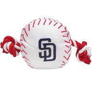 San Diego Padres Baseball Rope Dog Toy