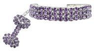 Purple Glamour Bits Dog Jewelry