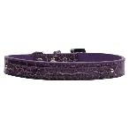 10mm Two Tier Purple Faux Croc Dog Collar