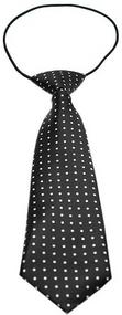 Swiss Dot Dog Neck Tie