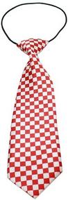 Checkered Dog Neck Tie