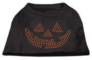 Jack O Lantern Rhinestone Dog T-Shirt - Black