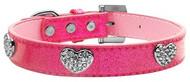 Pink Crystal Heart Ice Cream Dog Collar