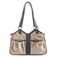 METRO Couture Toffee Leather Trim Dog Carrier
