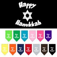Happy Hanukkah Dog Bandana