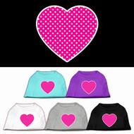 Pink Heart Polka Dot Dog Shirt