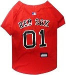 Boston Red Sox Baseball Dog Jersey