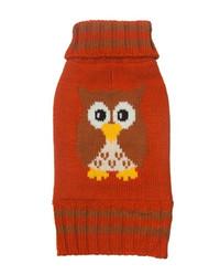 Fall Owl Dog Sweater