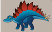 Stegosaurus Dog Peter Pads